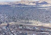 A view across the border from El Paso towards Ciudad Juarez.