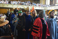 Procession entering Woolsey Hall at Yale Class Day 2018.
