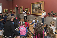 Children attending a class at the Yale Art Gallery.