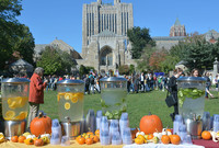 Founders Day celebration on Cross Campus at Yale University.