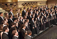 The Yale Glee Club in performance.