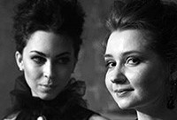 Anastasia Antonova and Anna Kiskachi, musicians known as A&A Harpsichord Duo.