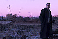 "A photo of actor Ethan Hawke from the film ""First Reformed."""