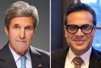 Secretary Kerry and Saad Omer