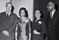 Coretta Scott King visits Yale University in 1969.