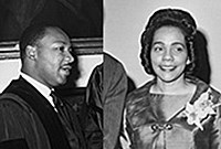 Photo of The Reverend Martin Luther King Jr. and his wife, Coretta Scott King.