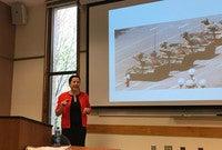 "Louisa Lim presents the iconic ""Tank Man"" photo on April 23."