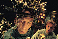 "A scene from the film ""The City of Lost Children,"" depicting two scientists."