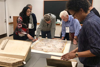A Yale for Life class session at the Beinecke with Professor Ayesha Ramachandran, an expert on Yale's Map Collection.