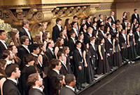 Members of the Yale Glee Club in performance.