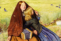 A painting by John Everett Millais which depicts two itinerant beggars, one of whom is a blind musician.