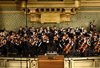 A photo of the Yale Symphony Orchestra in performance.