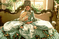 """A publicity photo from the film """"Orlando,"""" depicting actress Tilda Swinton in Elizabethan clothes.."""