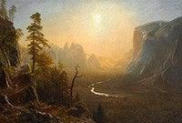 A landscape painting by Albert Bierstadt.
