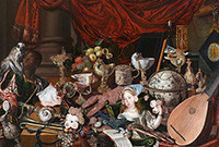 "Photo of painting known as ""The Paston Treasure."""