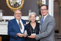 Fritz Jellinghaus, Connecticut Arts Council; Emily Bakemeier, deputy provost at Yale; and Governor Dannel P. Malloy