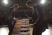 Two members of the Yale Percussion Group in performance.