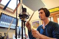 Composer and Resonance Project creator Jordan Plotner '17 in his studio.