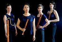 The recorder ensemble Boreas Quartett Bremen.
