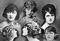 A collage of early 20th-century Broadway actresses.