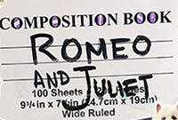 """A poster for the play """"Romeo and Juliet."""""""