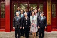 President Peter Salovey the the 13th annual IARU Presidents' Meeting at Peking University.