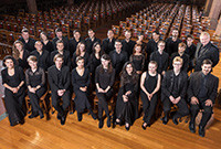 A photo of the the choral group Yale Schola Cantorum.