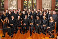 The Yale Schola Cantorum ensemble of male and female singers.