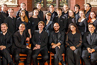 Members of the Yale Schola Cantorum ensemble