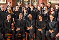 Members of the Yale Schola Cantorum ensemble.