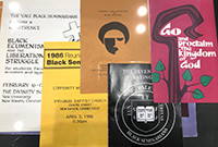 Pamphlets and posters from Afro-American events that took place at Yale Divinity School over the past 50 years.