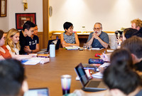 "Yale Professors Tina Lu and Shawkat Toorawa lead students in a new first year Yale seminar called ""Six Pretty Good Books."""