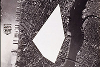 A graphic of an aerial photo of Manhattan.