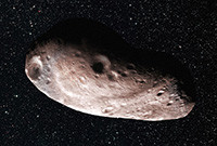 A concept illustration of the object in space titled 2014 MU69.