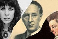 A photo montage of Missy Mazzoli, Bohuslav Martinu, and Wolfgang Amadeus Mozart.