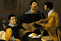 """The Three Musicians,"" an oil painting by Diego Velázquez."