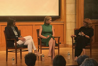 Kasie Hunt and Elise Jordan '04 B.A. of NBC News discuss the impacts of the #MeToo movement with moderator Eileen O'Connor.