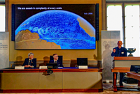 John Wettlaufer gives the scientific presentation at this year's Nobel Prize for Physics announcement.