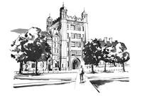 Illustration of Phelps Hall